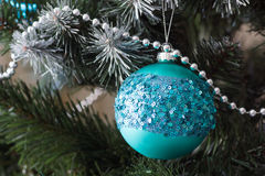 Decorations on the Christmas tree Royalty Free Stock Photos