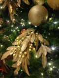 Decorations on a Christmas Tree in World Financial Center. Stock Image