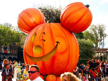 Decorations at Disneyland for Halloween. Oct 30 2015: Anaheim,CA Disneyland park in Anaheim. Decorations at Disneyland for Halloween with autumn colors and stock photography