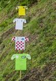 Decorations of Distinctive Jerseys of Le Tour de France 2014 Royalty Free Stock Images