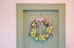The decorations of the door of the room. The decorations of the door of the calm room Royalty Free Stock Photo