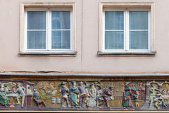 Decorations on the facade of the building Stock Photos