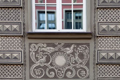 Decorations on the facade of the building Stock Image