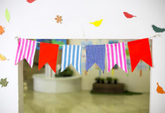 Decorations flags Stock Image