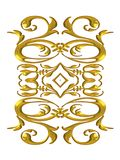 Decorations Gold Flourishes Stock Photos