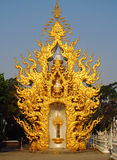 Decorations of Golden temple in Thailand Stock Photo