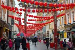 Chinese New Year Lanterns, Soho, London, UK royalty free stock images