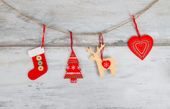 Decorations hanging on the thread Royalty Free Stock Image