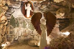 Decorations inside the Crystal Shrine Grotto Royalty Free Stock Photos