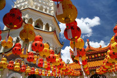 Decorations in Kek Lok Si Temple Royalty Free Stock Photography
