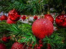 Decorations at market for Christmas month Stock Image