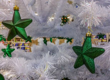 Decorations at market for Christmas month Royalty Free Stock Images