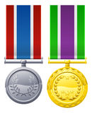 Military style decorations Royalty Free Stock Photos