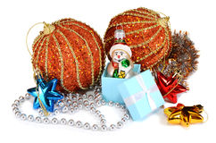 Decorations for New Year and Christmas Royalty Free Stock Photos