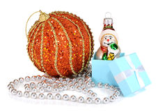 Decorations for New Year and Christmas Stock Images