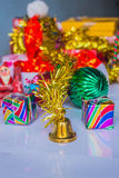 Decorations for New Year. Gifts and decorations for the New Year 2015 Stock Photos