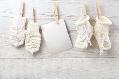 Decorations for newborn girl stock photography