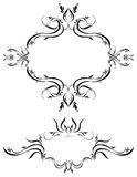 Decorations Ornamental Art 70. Unique graphics useful as decorations, ornaments and separators. Black designs on a white background vector illustration