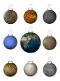 decorations_planets da Natal-árvore Fotografia de Stock Royalty Free