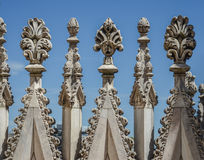 Decorations at the roof of Milan cathedral, Duomo di Milano Stock Image