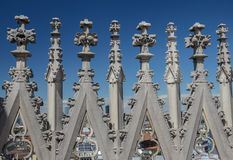 Decorations at the roof of Milan cathedral, Duomo di Milano Royalty Free Stock Image