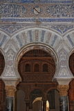 Decorations in the Royal Alcazar of Sevilla Royalty Free Stock Image