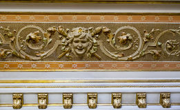 Decorations in royal hall Stock Image