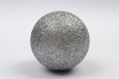Decorations shiny silver ball isolated Stock Photography