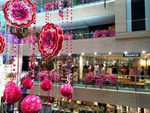 Decorations in Shopping Mall Stock Images