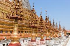 Decorations at the Shwezigon Pagoda in Bagan Royalty Free Stock Images