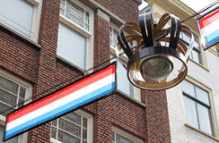 Decorations in the streets of city The Hague, Netherlands Royalty Free Stock Photos