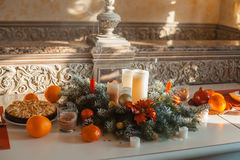Decorations on the table Stock Photography