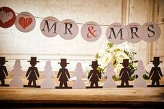 Decorations on Table at Wedding Celebration Royalty Free Stock Photo