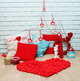 Decorations for Valentine's Day Royalty Free Stock Image