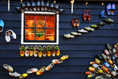 Decorations in the village of Zaanse Schans, Holland Stock Images