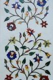 Decorations on the wall of Taj Mahal, India Stock Image