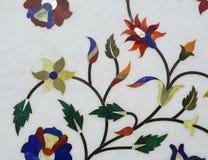 Decorations on the wall of Taj Mahal, India Royalty Free Stock Photos