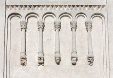 Decorations on walls of Church Intercession of Holy Virgin on Ne Stock Image