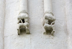 Decorations on walls of Church Intercession of Holy Virgin on Ne Stock Photos