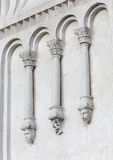 Decorations on walls of Church Intercession of Holy Virgin on Ne Royalty Free Stock Photos