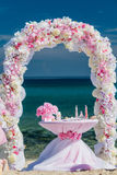 Decorations for weddings on the ocean Royalty Free Stock Images