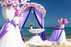 Decorations for weddings on the ocean Stock Photos