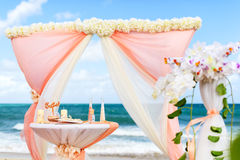 Decorations for weddings on the ocean Stock Photography