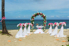 Decorations for weddings on the ocean Stock Images