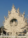 Decorations of White Temple Wat Rong Khun inChiang Rai, Thailand Royalty Free Stock Photography