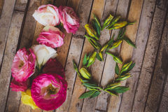 Decorations Women's Day  flowers buds eustomy number 8 Stock Photography