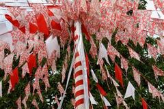 Decoratiosn n Paraty do domingo de Pentecostes, Brasil imagens de stock