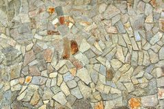 Decorativ Mosaic Stone Wall Stock Image