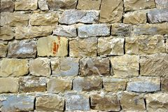 Decorativ Mosaic Stone Wall Royalty Free Stock Photo