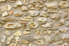 Decorativ Mosaic Stone Wall Stock Photo